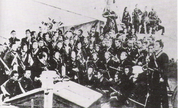 Troops loyal to the Tokugawa Shogunate being transported to Ezo, October 1868.